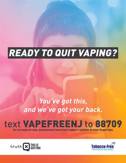 Text VAPEFREENJ to 88709